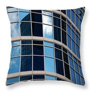 Glass Window Reflection Throw Pillow
