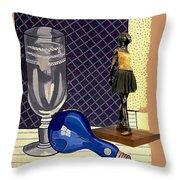 Glass With Ballerina Throw Pillow