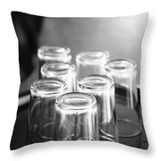 Glasses In A Bar Throw Pillow