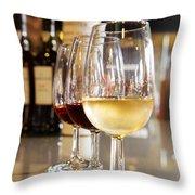 Glasses Of  Port Wine Throw Pillow