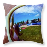 Glasses Reflect Throw Pillow