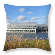 Glasshouse At Rhs Wisley Surrey Uk Throw Pillow