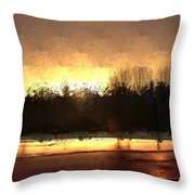 Glassy Dawn Throw Pillow