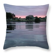 Glassy River Reflection Throw Pillow
