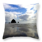 Glassy Sands Throw Pillow
