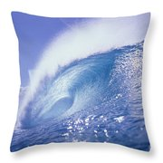 Glassy Wave Throw Pillow by Vince Cavataio - Printscapes