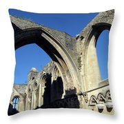 Glastonbur Abbey 2 Throw Pillow