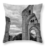 Glastonbury Abbey Throw Pillow