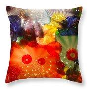 Glazed In Glass Throw Pillow