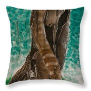 Glazing Veins Throw Pillow