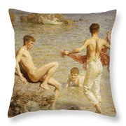 Gleaming Waters Throw Pillow