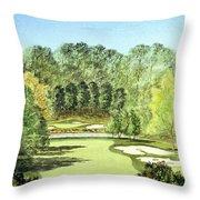 Glen Abbey Golf Course Canada 11th Hole Throw Pillow