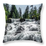 Glen Alpine Falls 7 Throw Pillow