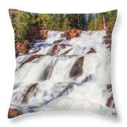 Glen Alpine Falls In Early Morning Light Throw Pillow