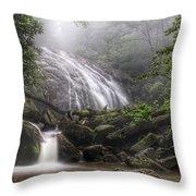 Glen Burney Falls Throw Pillow