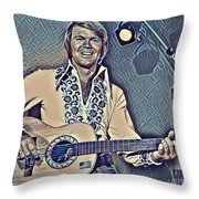 Glen Campbell Abstract Throw Pillow