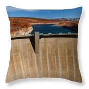 Glen Canyon Dam And Lake Powell Throw Pillow