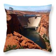 Glen Canyon Dam - Arizona Throw Pillow