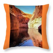 Glen Canyon Reflections Throw Pillow
