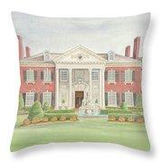 Glen Cove Mansion Throw Pillow