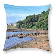 Glen Cove Rocky Beach Throw Pillow