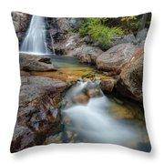 Glen Ellis Falls Autumn Throw Pillow
