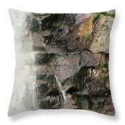 Glen Falls Abstract Throw Pillow