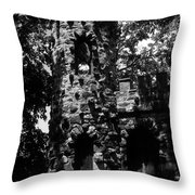Glen Island Castle  Throw Pillow