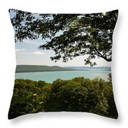 Glen Lake Overlook Throw Pillow