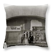 Glen Lyon Pa. Family Theatre Early 1900s Throw Pillow