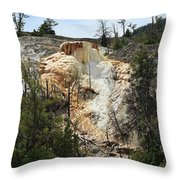 Glen Spring At Mammoth Hot Springs Upper Terraces Throw Pillow