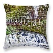 Glen Waterfall Throw Pillow by William Norton