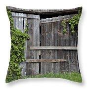 Glengarry Barn Doors Throw Pillow