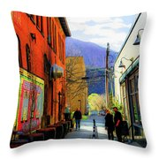 Glenwood Alleyscape Throw Pillow