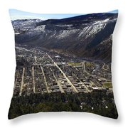 Glenwood Springs Canyon Throw Pillow