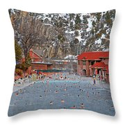 Glenwood Springs Hot Springs In Winter Throw Pillow