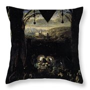 Gleyre Charles Gabriel The Queen Of Sheba Throw Pillow