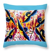 Glidding To Victorious Ends Throw Pillow