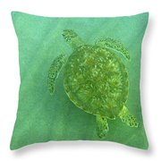 Gliding Green Throw Pillow
