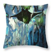Gliding Stingray Throw Pillow