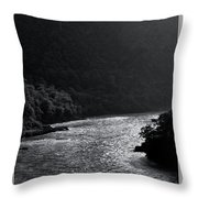 Glimmer On The Ganges Throw Pillow