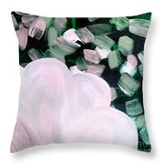 Glimmering Petals Throw Pillow