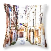 Glimpse Away With The Town Hall Throw Pillow