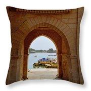 Glimpse Of Gadisar Lake Throw Pillow