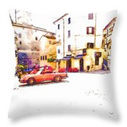 Glimpse With Cars Throw Pillow