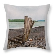 Glin Beach Breakers Throw Pillow