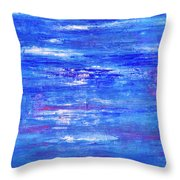 Glints On The Water Throw Pillow
