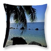 Glistening Anini Beach Throw Pillow