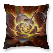 Glistening Glowing Garden Jewel Throw Pillow