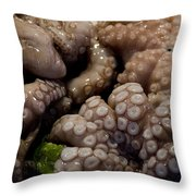 Glistening Octopus For Sale Throw Pillow
